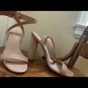 Wrap around ankle heels